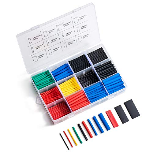 560pcs Heat Shrink Tubing Kit Heat-Shrink Tubes Wire Wrap Butt Connectors Waterproof and Insulated Electrical Wire Terminals, Electrical Cable Wire Kit Set Long Lasting Insulation Protection
