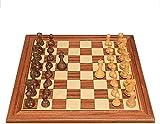 N\C Juego Internacional de ajedrez, Tablero de ajedrez de Madera Grande, Piezas de ajedrez Hechas a Mano, Juego de ajedrez de Estrategia para niños y Adultos, 50X50X2Cm ZZST