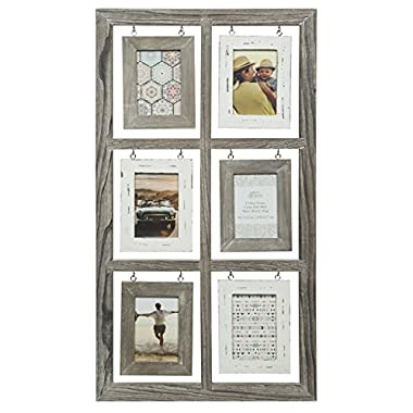 Gallery Solutions 15x28 6 Opening Rustic Homestead Collage Frame