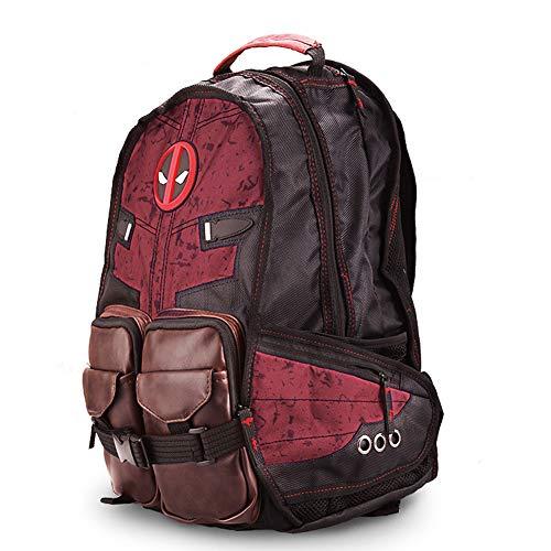 Reiserucksack Waterproof Foldable Daypack Deadpool Batman Theme Rucksack mit großer Kapazität wasserdicht tragbar School Marvel-red
