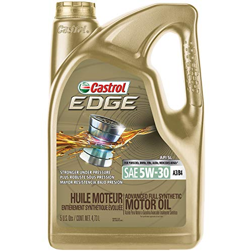 Castrol 03037 EDGE 5W-30 A3/B4 Advanced Full Synthetic Motor Oil, 5 quart