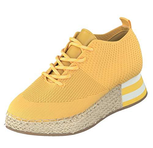 La Strada Woman Damen Schuhe Espadrille Halbschuhe Sneaker 1902367-4582 Yellow (Numeric_38)