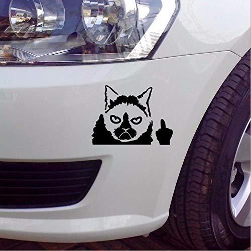 Etiquetas de la ventana decorativas modificadas para el coche gracioso gato gracioso gracioso pegatinas reflectantes del coche