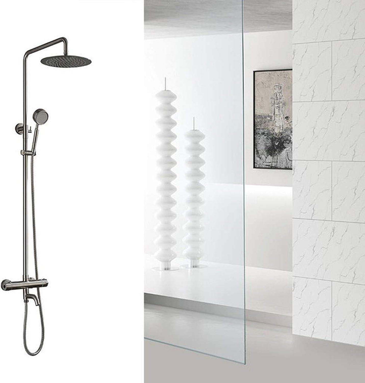 ZQG Duschsystem Badewanne Wasserhahn Duschset mit konstanter Temperatur Chrom