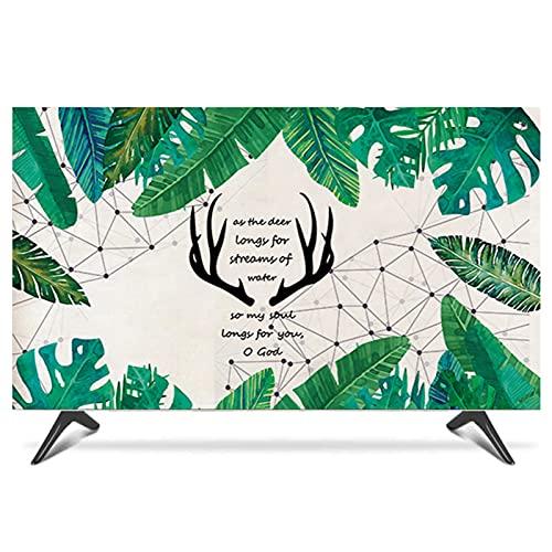 FFJD Cubierta De TV A Prueba De Polvo 19 '' - 65 '' Protector De Pantalla De TV Universal para Led, LCD, Pantalla Plana Plana OLED, Decoración De Estilo Rústico(Size:47-50 in [W 116-H 67cm])