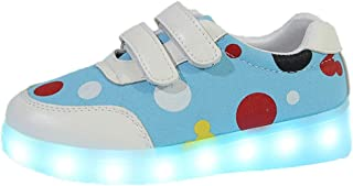 Sunward 3-9 Years Child Charging USB Led Light Sneakers Girl Hook Casual Boys Light Walking Shoes