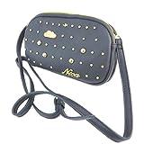 Nica [P3456] - Creative bag 'Nica' navy gold (2 compartments)- 20.5x13x5.5 cm (8.07''x5.12''x2.17'').