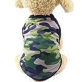Chaleco de Camuflaje Ropa para Mascotas Perros Gusspower Ropa de Invierno de Mascotas pequeñas Abrigos Ropa Chaleco Chaqueta de Mascotas