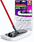 VanDuck 100% Cotton Terry Mop Pads 15x8 Inch 3-Pack (Mop Is Not Included).