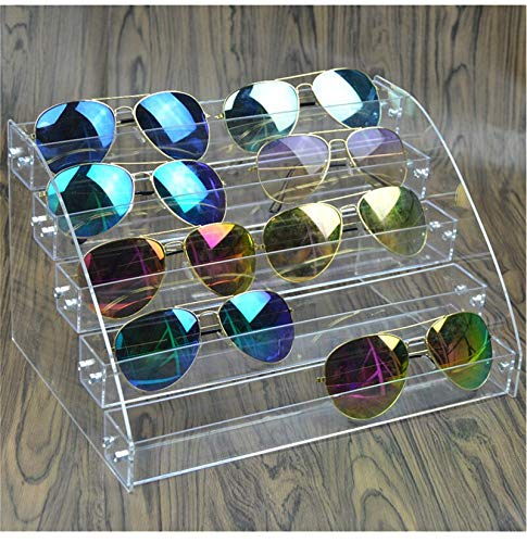 Multi Layers Jewelry Organizer Acrylic Stand Nail Polish Shelf Eyeglass Glasses Frame Rack Display Sunglass Women Storage Box