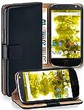 MoEx Étui Folio à Support vidéo Compatible Moto Z   Fente pour Argent/Cartes, Noir