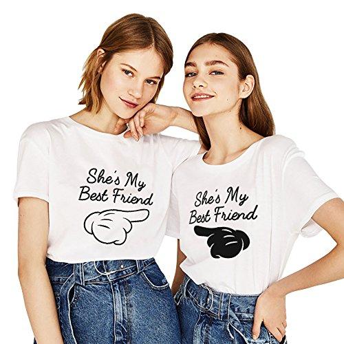 Mejores Amigas Camiseta Impresión She