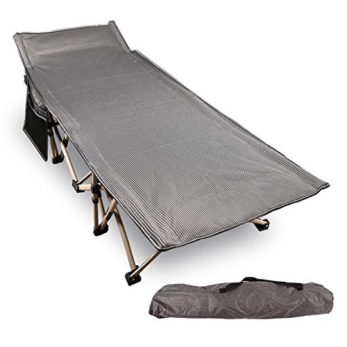 REDCAMP Folding Camping Cots for Adults 500lbs, Double Layer Oxford Strong Heavy Duty Wide Sleeping Cots for Camp Office Use, Portable with Carry Bag