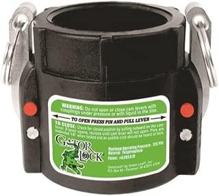 Green Leaf GLP 200 D NL Series Polypropylene Gator Lock Cam Lever Coupling, Non-Locking, 2