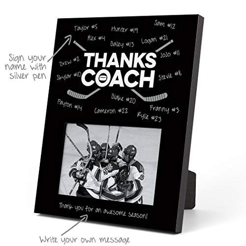 ChalkTalkSPORTS Hockey Photo Frame | Coach (Autograph) Picture Frame | Black