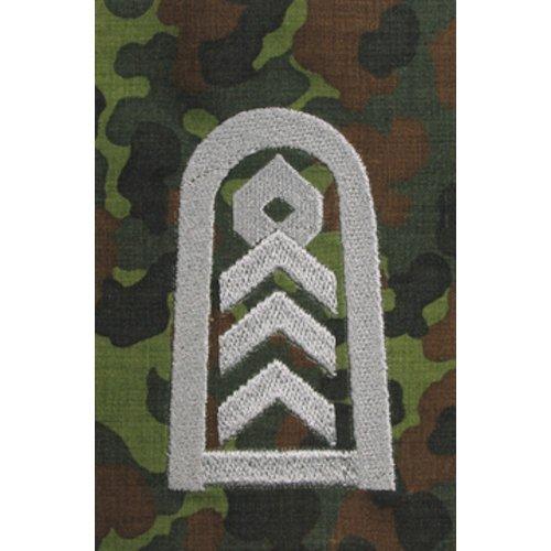 Unbekannt 1 Paar Bundeswehr Rangabzeichen Flecktarn/Silber Rangschlaufe Rangschlaufen Abzeichen Schlaufe Verschiedene Dienstgrade (Oberstabsfeldwebel)