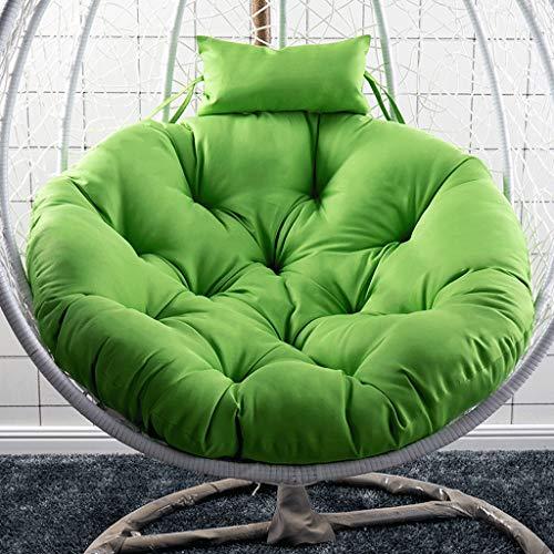 Zuo Cojín de Silla de Cesta Colgante, cojín de Asiento Grande Cojín de Hamaca de Huevo Cojín de Silla de Columpio Cojín de Asiento extraíble Multicolor -41.33X11.81in A+ (Color : Green)