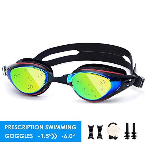 UTOBEST Gafas de natación para Hombres Mujeres y niños antiniebla no Fugas UV Protección