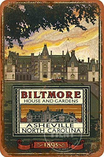 Biltmore Estatet Street - Cartel de metal para exteriores con letreros de calle vintage para decoración del hogar de granja rústica para porche de 8 x 12 pulgadas