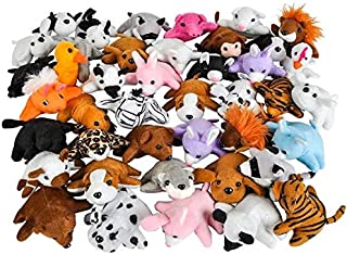 Rhode Island Novelty 3 Inch Bean Bag Plush Animals Assortment 50 Pieces