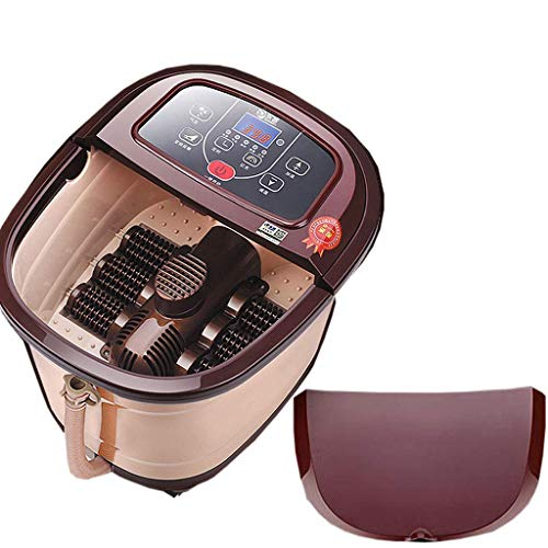 Fantastic Deal! Foot Spa Massager,Heated Rolling Massage Adjustable Time & Temperature for Home(Size...