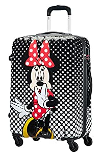 American Tourister Disney Legends Spinner M Maleta Infantil, 65 cm, 62.5 L, Multicolor (Minnie Mouse Polka Dot)