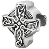 Zable Sterling Silver Celtic Braid Cross Compatible Bead/Charm