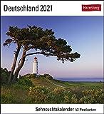 Deutschland Sehnsuchtskalender 2021 - Postkartenkalender mit Wochenkalendarium - 53 perforierte Postkarten zum Heraustrennen - zum Aufstellen oder ... x 17,5 cm: Sehnsuchtskalender, 53 Postkarten
