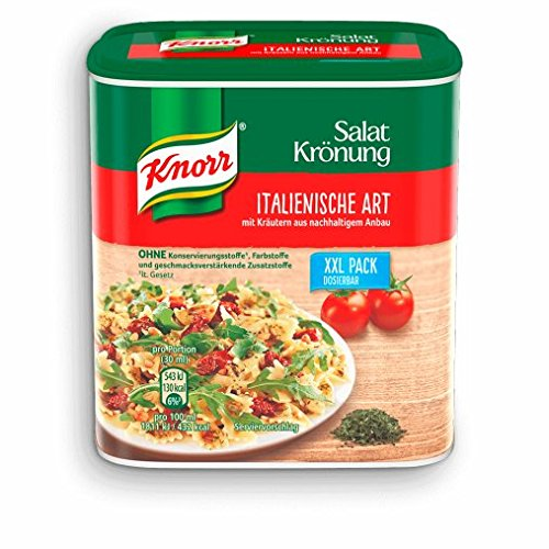 Knorr Italian Herb Salad Dressing Vinaigrette Container/Tub 2.1 L - Full English Instruction Booklet Included - Knorr Italienische Art Salat Krönung