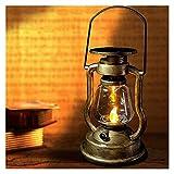 Colgando al aire libre Vintage 2 Embalaje de keroseno lámpara portátiles Portátiles con energía solar,luces de camping y linternas lámpara de huracanes de la lámpara de tormenta de la linterna 4.2*8.2