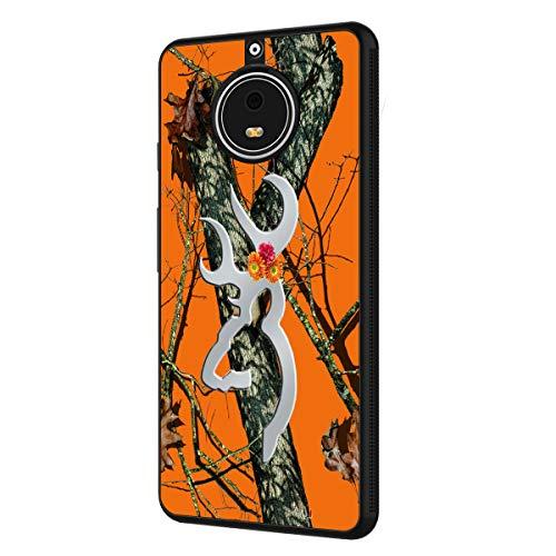 Moto E4 Plus Case (US Version),BOSLIVE Orange Camo Tree Background Design TPU Slim Anti-Scratch Protective Cover Case for Motorola Moto E4 Plus