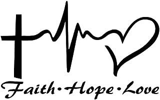 14.6CM x 9CM Jesus Hope Love Faith Prayer Creative Vinyl Car Sticker Decal Decor - Black