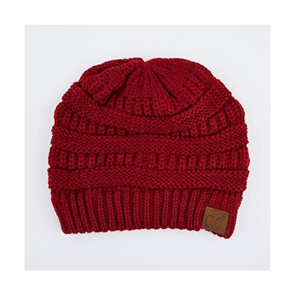 C.C Exclusives Cable Knit Beanie – Thick, Soft & Warm Chunky Beanie Hats (Burgundy)