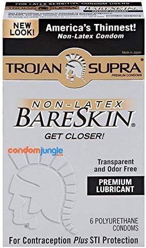 Trojan Supra Non-Latex Bareskin Lubricated Condoms