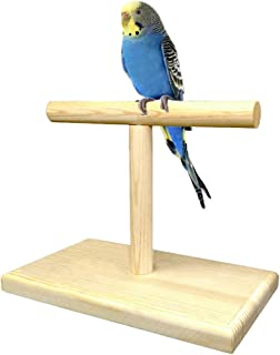 TOYPOPOR 36 INCH Standing Adjustable Height Parrot Training Perch Stand Bird Travel Perches Indoor and Outdoor