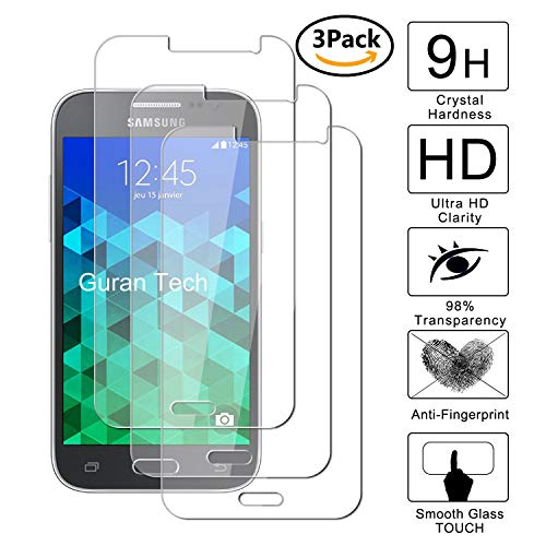 Guran [3-Unidades] Protector de Pantalla Vidrio Cristal Templado para Samsung Galaxy Core...