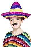 Smiffy's-44311 Sombrero Mexicano, Multicolor, L (44311)