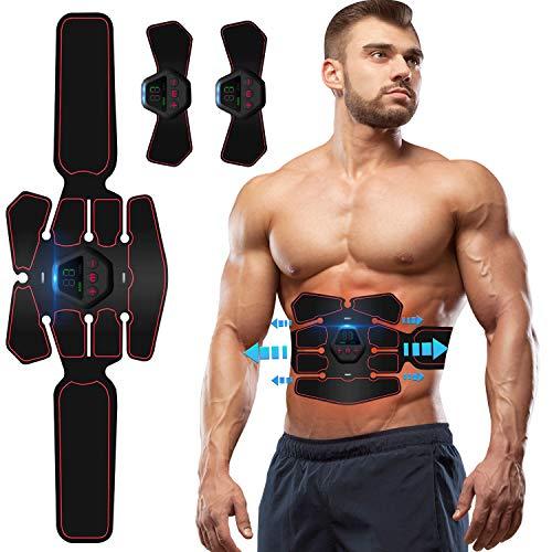 ZHENROG Electroestimulador Muscular Abdominales, EMS Estimulador Muscular Abdominales Cinturón, ABS Estimulador Muscular USB Recargable para Bdomen/Brazo/Piernas/Glúteos