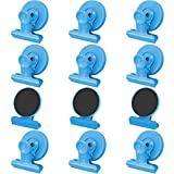 12pack Fridge Magnets Refrigerator Magnets Magnetic Clips Heavy Duty Detailed List Display Paper Fasteners on Home& Office& Teaching (Blue, 12)