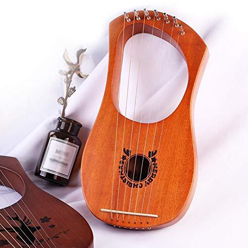 Saitenharfe, Lyra-Harfe Mahagoni, Siebensaitiges Klavier Kleine Harfe Lerqin Liqin Griechische Musikinstrumente