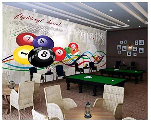 Xcmb Tapetefototapete Mit Benutzerdefinierten Motiven 3D Swing Pool Billiard Hall Billiard Room Wohnkultur Tapete Mit 3D-Wandbildern Für Wände 3 D (360cmx220cm)