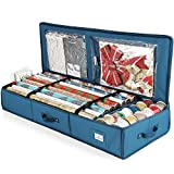 Luxury Christmas Wrapping Paper Storage Organizer Box- Wrapping Paper Rolls Storage, Under-Bed...