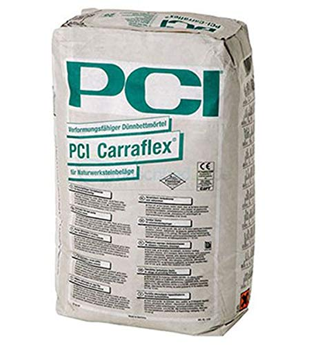 PCI CARRAFLEX Verformfähiger Dünnbettmörtel 25 kg Sack - Innen & Außen - Boden / Wand