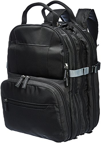 AmazonBasics Durable, Padded Tool Bag Backpack, Black - 75 Pocket