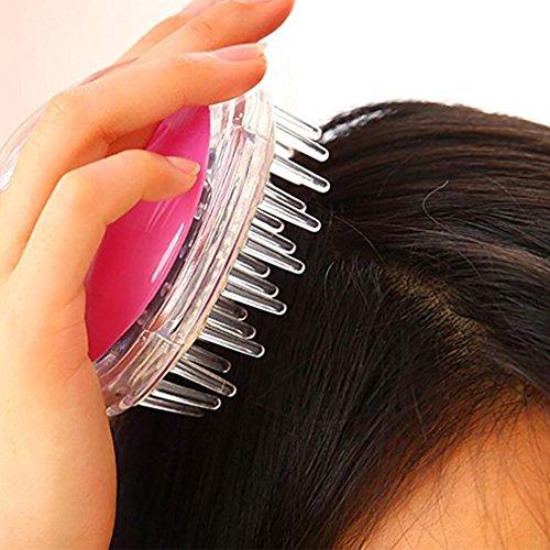 Massager Tête De Silicone Masseur Corporel Shampooing Scalp Brosse Cheveux De Lavage Peigne Corps Brosse De Douche Bath Spa Minceur Brosse De, Pink