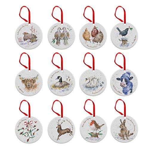 Wrendale 12 Jours de décorations de Noël, Multicolore
