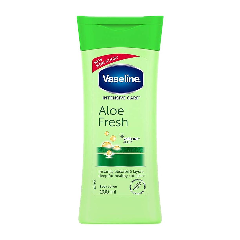 デザート六分儀びっくりしたVaseline Intensive Care Aloe Fresh Body Lotion, 200 ml