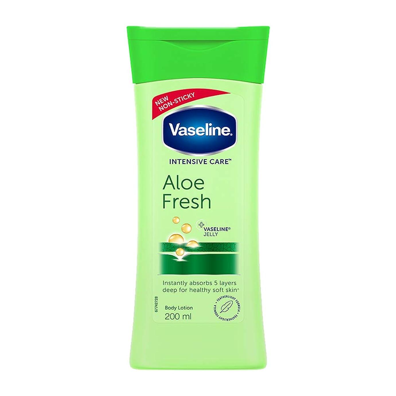 気晴らし寝室を掃除するラジカルVaseline Intensive Care Aloe Fresh Body Lotion, 200 ml