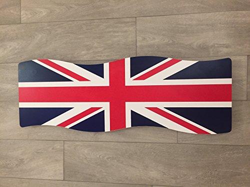 myhomeware Union Jack Elektrische radiator, horizontaal, ultradun, gevuld met droogradiator, handdoeken voor het verbinden