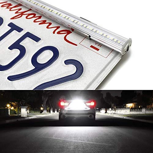 iJDMTOY 57-Smd Super Bright Full Size Led License Plate Frame Mount Backup Reverse/Driving Light Bar Kit For Car Truck Suv Rv, Universal Fit, Xenon White 6000K